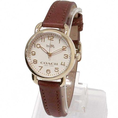 コーチ 時計 レディース COACH アウトレット デランシー レディース ウォッチ ホワイト/ブラウン 腕時計 14502248 n90319