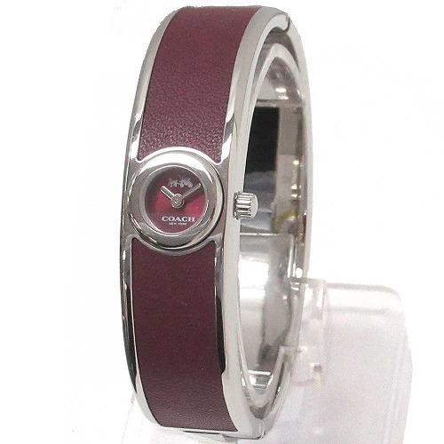 コーチ 時計 レディース COACH バングル スカウト バーガンディー ステンレス スチール 腕時計 14502605 n91101