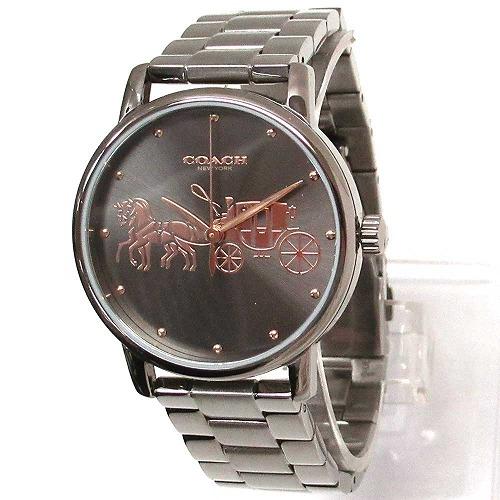 コーチ 時計 レディース COACH アウトレット GRAND グランド レディース ガンメタル 腕時計 14502924 n91101