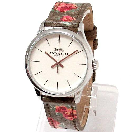 コーチ 時計 レディース COACH アウトレット レザー ルビー シグネチャー フローラル ウォッチ 腕時計 14503215