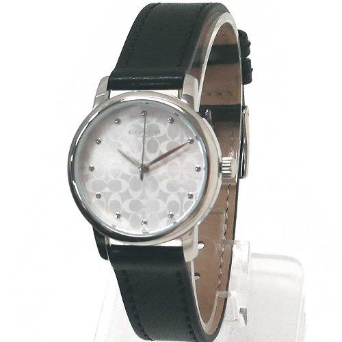 コーチ 時計 レディース COACH アウトレット レディース ブラック レザー ベルト ウォッチ 腕時計 14503403 n00720
