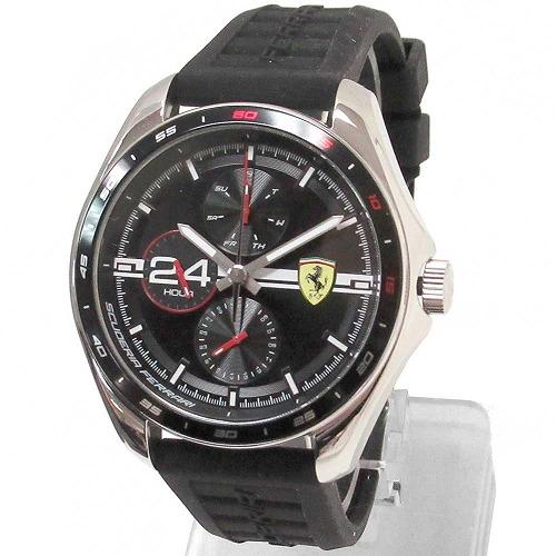 スクーデリア ストアー フェラーリ 腕時計 Scuderia Ferrari スピードレーサー シリコン ストラップ ウォッチ オンライン限定商品 n210427 メンズ クオーツ ダイヤル 0830818 ブラック
