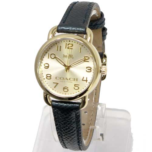 コーチ 時計 レディース COACH アウトレット デランシー ゴールド×メタリックディープグリーンレザーストラップ / 腕時計 14502250
