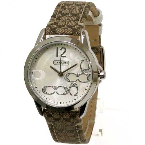 コーチ時計レディースCOACHアウトレットクラシックシグネチャースモールCホワイト&ストーンレディース腕時計14501620 seikatu2019