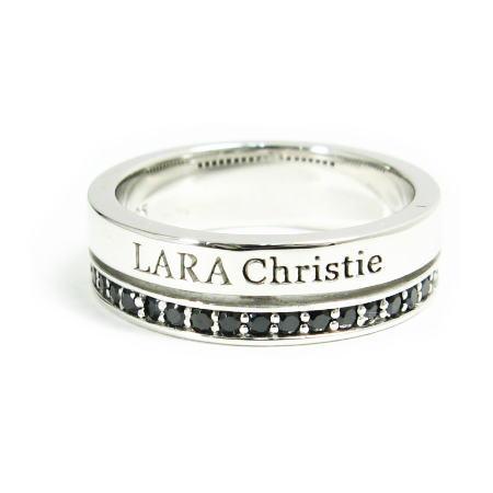 トラディショナルリング [ ] Label (ララ クリスティー) BLACK Christie LARA