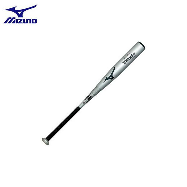 野球 ●MIZUNO ミズノ 一般軟式金属バット ビクトリーステージ Vコング02(金属製) 83cm740g平均 シルバー