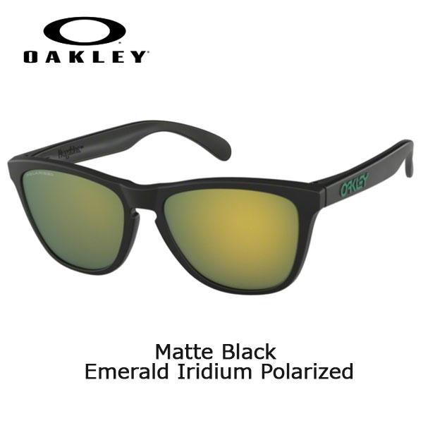 オークリー サングラス カジュアル フロッグスキン OAKLEY FROGSKINS (A) Matte Black Emerald Iridium Polarized アパレル ファッション 普段着 あす楽
