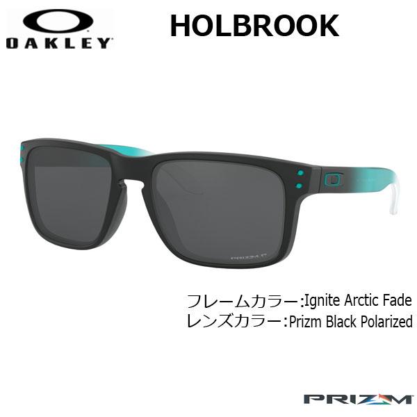 オークリー 偏光 サングラス ホルブルック カジュアル OAKLEY HOLBROOK (A) フレーム Ignite Arctic Fade レンズ Prizm Black Polarized
