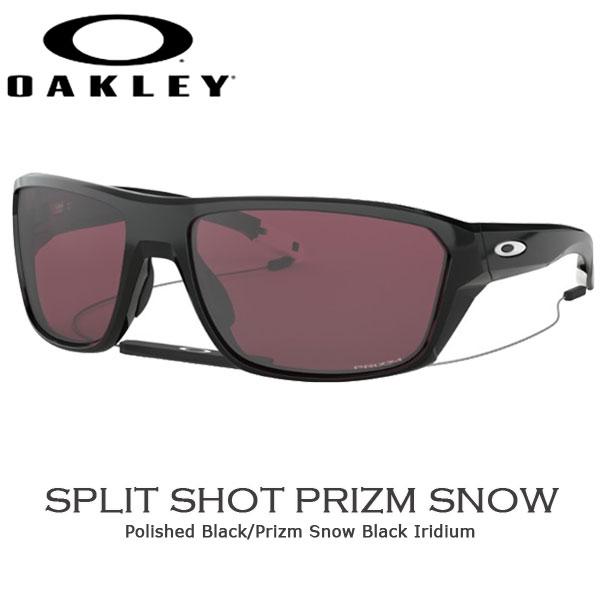 オークリー カジュアル サングラス OAKLEY SPLIT SHOT フレーム Polished Black レンズ Prizm Snow Black oky-sun あす楽