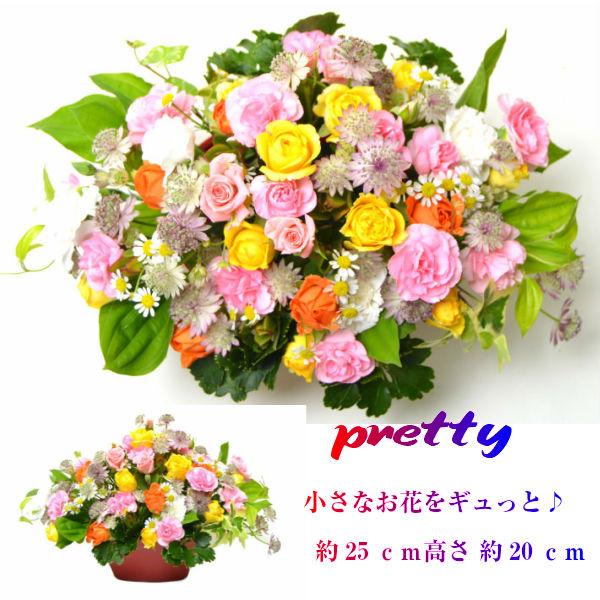 MIXカラーお花お任せーだからお値段以上 卒業 日本未発売 入学祝い 公式サイト 花 ギフト プリティー 小花をギュットと詰め込んだキュートなお花 生花 アレンジメント
