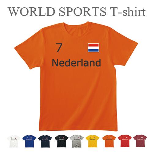 早割クーポン Tシャツ ワールド スポーツ ティシャツ オランダ カジュアル メンズ レディース ユニセックス 半袖 DM便対応 ティーシャツ サービス サッカー メール便 ファンション 競技 雑貨