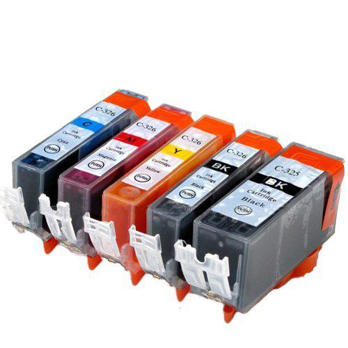 対応プリンタ MG8230 大人気 MG8130 MG6230 MG6130 MG5330 期間限定送料無料 MG5230 MG5130 MX893 MX883 iP4930 iP4830 iX6530 BCI-326+325 BCI-326M BCI-326C 互換インク 5MP BCI-325PGBK BCI-326BK BCI-326Y 5色セット キャノン ×1 325のみ顔料他は染料 CANON 対応インク型番