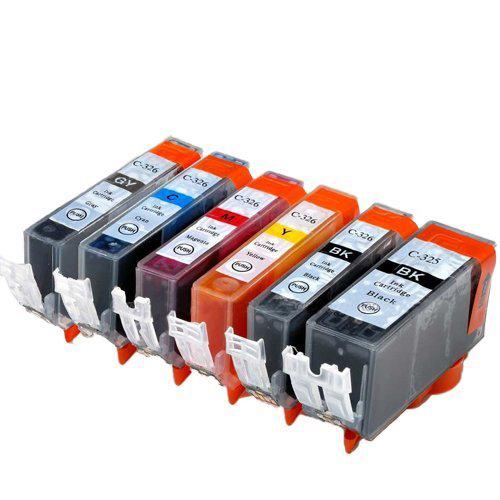 対応プリンタ MG8230 MG8130 MG6230 高品質 MG6130 BCI-326+325 6MP ×1 6色セット CANON BCI-326M 互換インク BCI-326GY BCI-326C BCI-326BK BCI-325PGBK 対応インク型番 BCI-326Y 325のみ顔料他は染料 毎日がバーゲンセール キャノン
