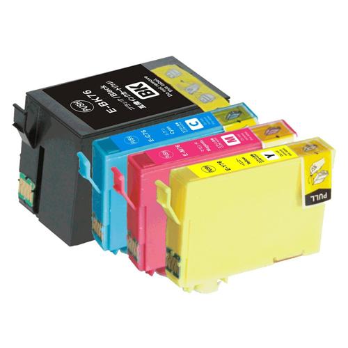 インクカートリッジ エプソン IC4CL76 お得な4色セット 送料込 4色セット EPSON PX-M5040F PX-M5041F 保障 送料無料 ICY76 互換 ICC76 ICチップ付 定番キャンバス PX-S5040 ICM76 ICBK76 4色パック