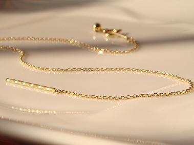 K18 골드 포스트 슬라이드 체인 팔찌 「-フィランテ-」 기반 항목 18 금 18K YG WG PG 옐로우 골드 화이트 골드 핑크 골드 핀 슬라이드 귀여운 선물 선물 P16Sep15