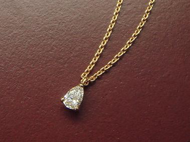 【再販】K18 ダイヤモンド ネックレス 「ペアシェイプカット」0.1ctup/SIup/Hup【送料無料】18K 18金 YG WG PG イエローゴールド ホワイトゴールド ピンクゴールド 一粒 ひと粒 ギフト プレゼント ファンシーカット