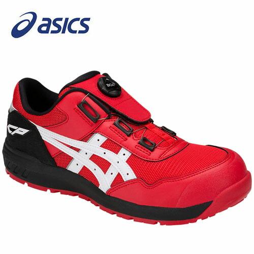 アシックス 1271A029-602 安全靴 ウィンジョブ CP209 Boa クラシックレッド×ホワイト