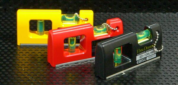 春の新作シューズ満載 エビス 水平器 100mm 特価品コーナー☆ ハンディレベル2 ED-10HLM 黄 赤の3色 黒