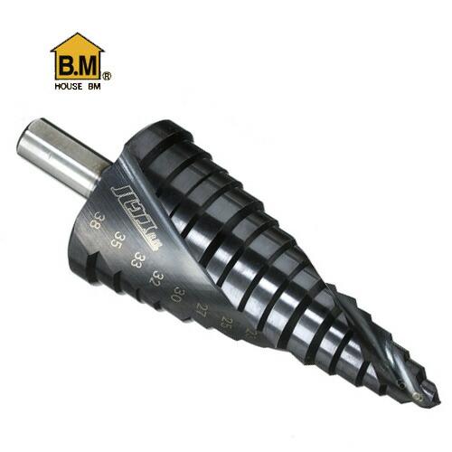 ハウスBM 海外並行輸入正規品 SD6-38 ステップドリル 15段 ストレート軸 限定特価 6~38mm