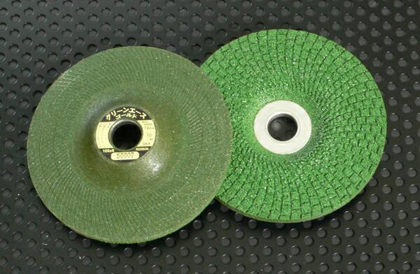 日本レヂボン GA1003-80 100mm×3.0厚×15穴 #80 フレキシブル研削砥石 25枚入 グリーンエースゴールド GA-3 新発売 訳あり品送料無料