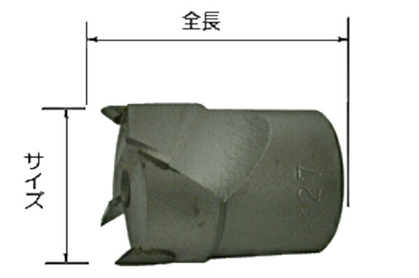 スターエム STAR-M #28S-C240 最新号掲載アイテム 超硬座掘錐 カッター 小口径 安心と信頼 24mm No.28S