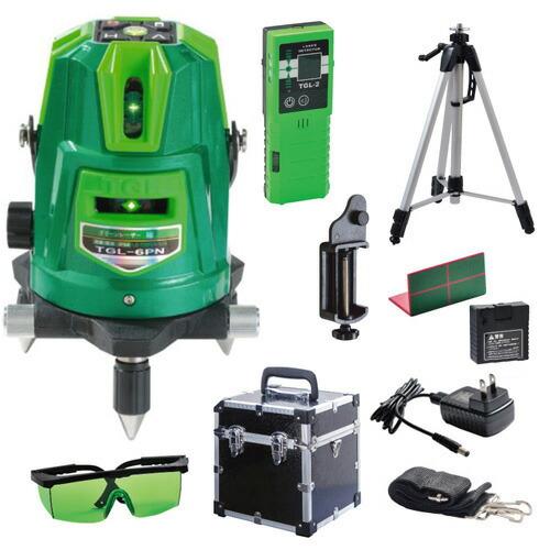 高儀 グリーンレーザー墨出し器  磁気制動方式 ダイレクトグリーン&ドットライン TGL-6P