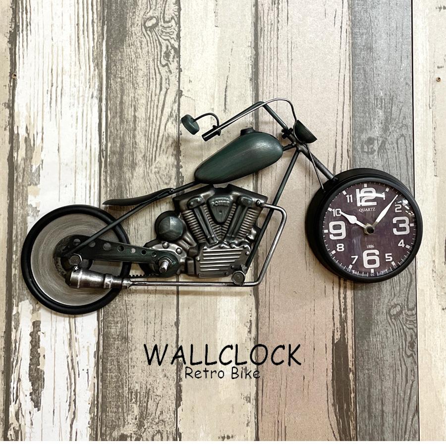 時計 ブリキ製 バイク アメリカン おしゃれ アナログ レトロバイク風 小さい コンパクト 生活雑貨 ポイントアップ9月4日から ガレージに 壁掛け時計 プレゼント 置き時計 日本メーカー新品 ハーレー風 SALENEW大人気! アメリカン雑貨