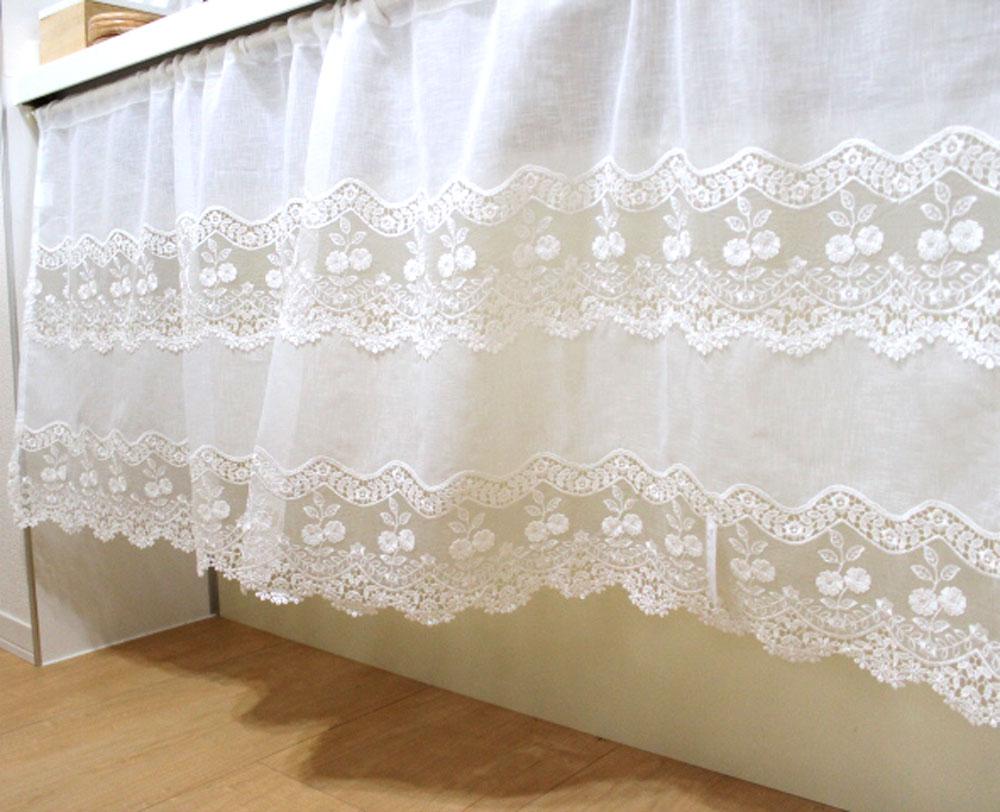 どこかに掛けたい気持ちにさせてくれるカフェカーテン 日本限定 類似品にご注意願います あす楽 送料無料 人気の為新サイズ出来ました 横150cmx縦60cm バースデー 記念日 ギフト 贈物 お勧め 通販 絶対可愛い セミロング小窓用 HLS_DU 裾の切り替えが カフェカーテン