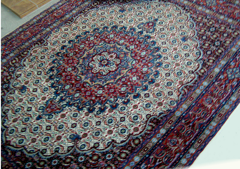 大きな『玄関マット』 リビングラグに! 店長水野 展示会で一目惚れ品ペルシャ イラン MOUD(ムード) 手織絨毯リッチ