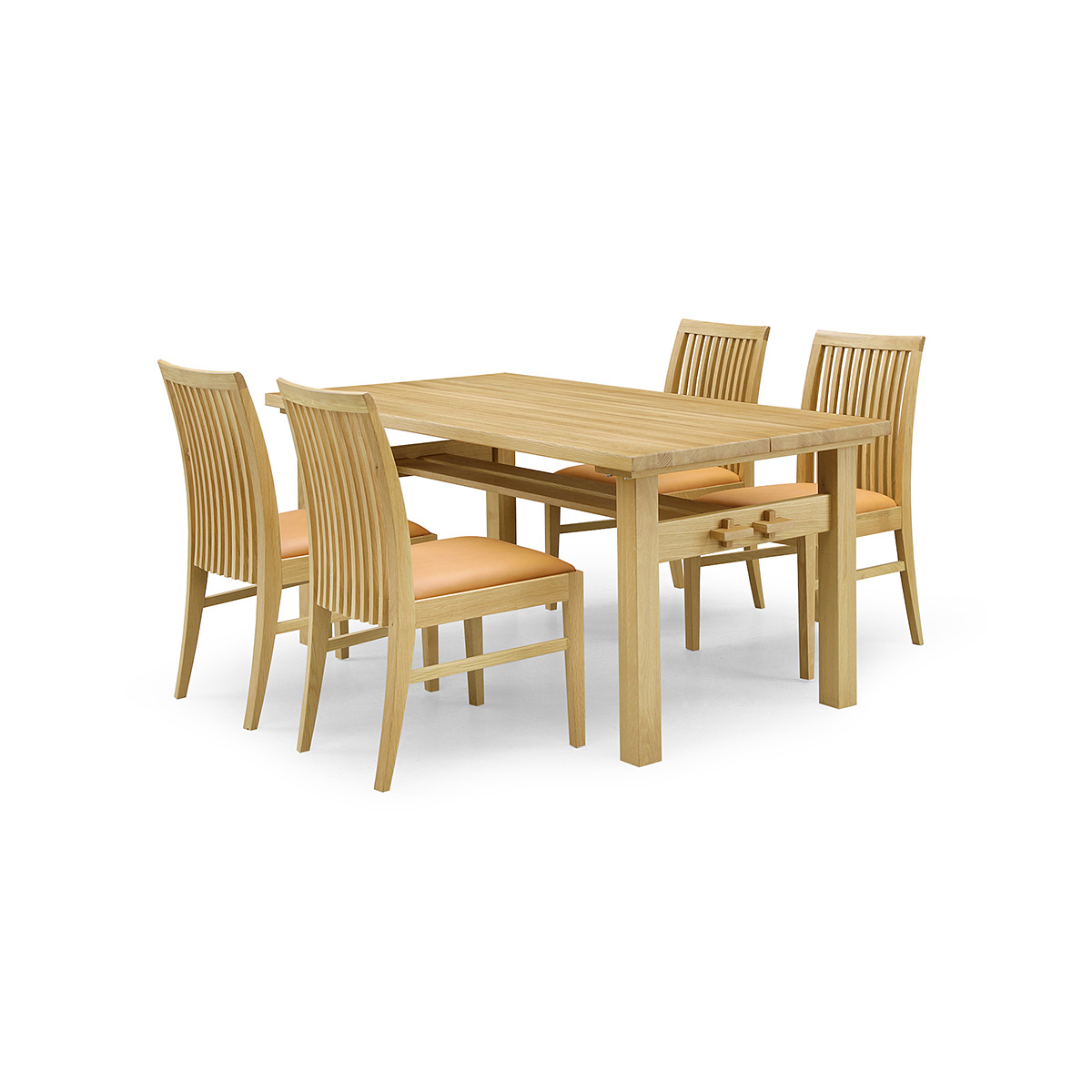 36%OFF [ダイニング5点セット] GREEN home style ROSE MARY DINING TABLE 150 + SIDE CHAIR C (グリーン ホームスタイル ローズマリー ダイニングテーブル150 サイドチェアC) 岩倉榮利 (オーク材)【同梱不可】【店頭受取対応商品】