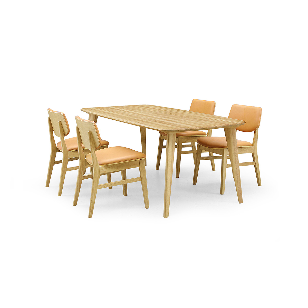 36%OFF [ダイニング5点] GREEN home style YUZU DINING TABLE B180 + CHAIR E (グリーン ホームスタイル ユズ ダイニングテーブル B180 チェア E) ダイニングセット 岩倉 榮利 (テーブル幅180cm, オーク材)【同梱】
