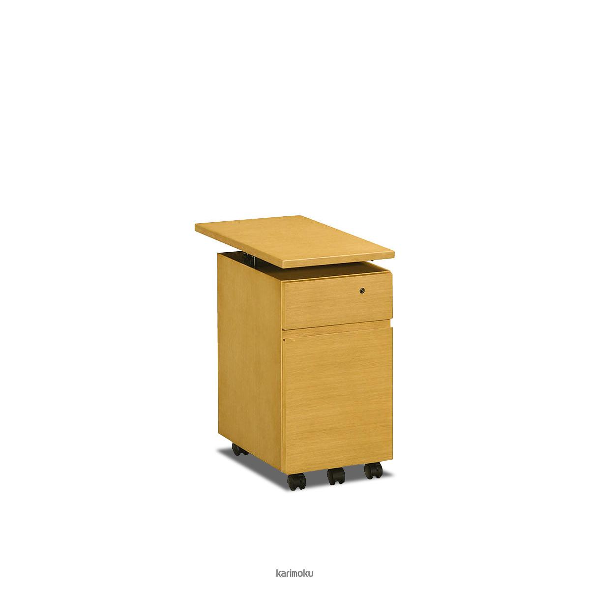 カリモク 学習机 SS0475 ワゴン (デスク奥行き60cm専用, 幅30cm, ナッツシェル色)【全国送料無料】【同梱不可】【店頭受取対応商品】