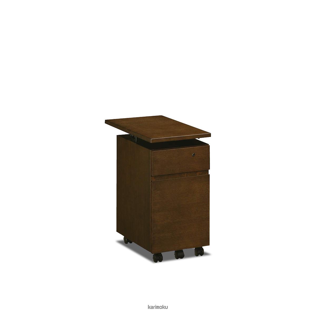 カリモク 学習机 SS0475 ワゴン (デスク奥行き60cm専用, 幅30cm, モカブラウン色)【全国送料無料】【同梱不可】【店頭受取対応商品】