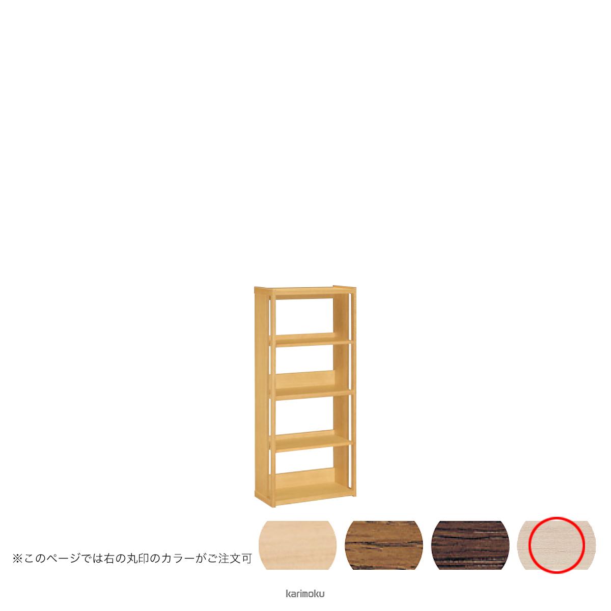 カリモク 書棚 HT2265 [オープンタイプ] (シアーホワイト色)【全国送料無料】【同梱不可】【店頭受取対応商品】