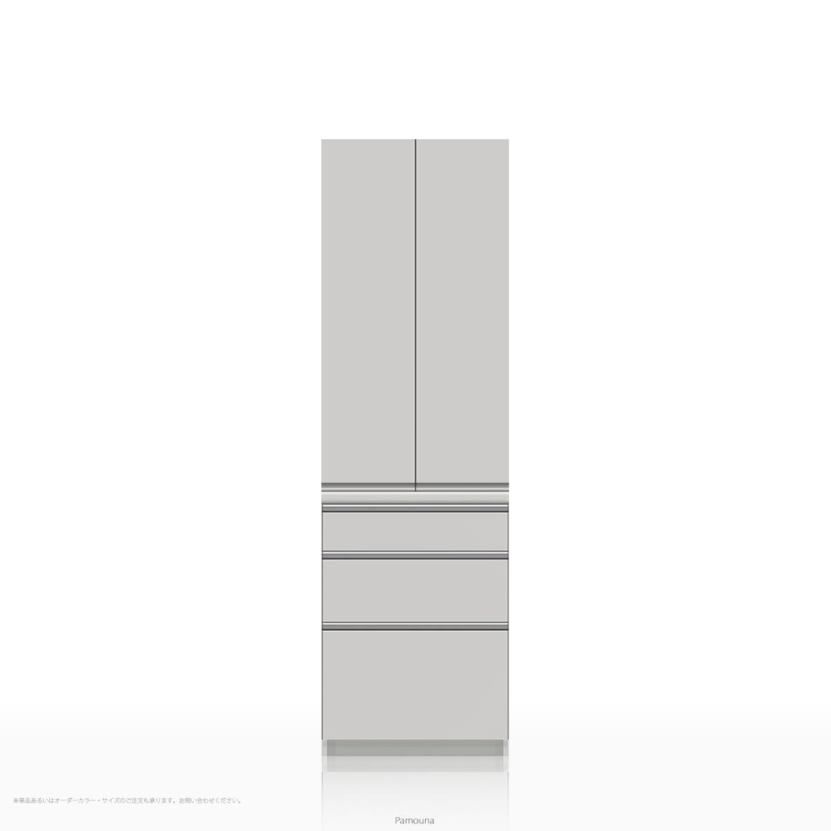 パモウナ 食器棚 WLシリーズ WL-S600K [開き扉] (幅600cm, 奥行き45cm, パールホワイト)【送料無料 ※対象地域(本州,九州,四国)】【同梱不可】【店頭受取対応商品】