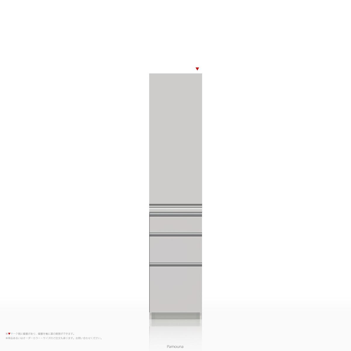 パモウナ 食器棚 KLシリーズ KL-S400KR [開き扉] (幅400cm, 奥行き45cm, パールホワイト)【送料無料 ※対象地域(本州,九州,四国)】【同梱不可】【店頭受取対応商品】
