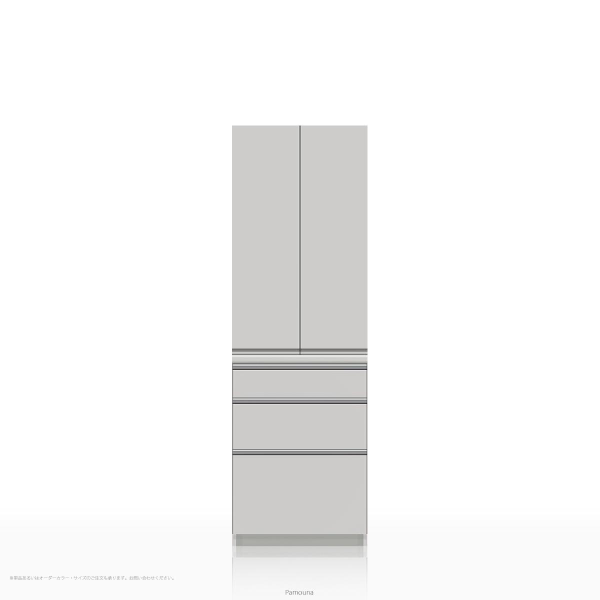 パモウナ 食器棚 KLシリーズ KL-S600K [開き扉] (幅600cm, 奥行き45cm, パールホワイト)【送料無料 ※対象地域(本州,九州,四国)】【同梱不可】【店頭受取対応商品】