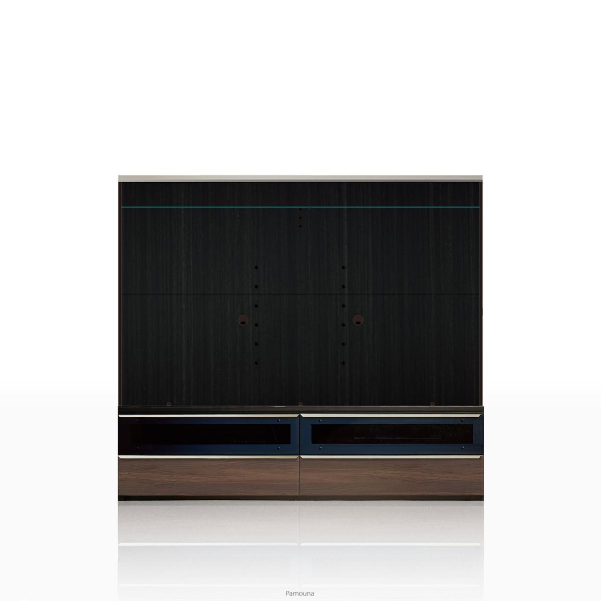 パモウナ テレビ台 VWシリーズ VW-1800 テレビ台/テレビボード (幅180cm, ウォールナット)【この商品は配送地域限定[本州、四国、九州]】【同梱不可】【店頭受取対応商品】