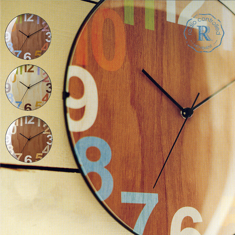 ノエル『Noel』 壁掛け時計 日本メーカー製電波ステップムーブメント(ラジオコントロール・電波時計) ナチュラル・ブラウン  【同梱可】【店頭受取対応商品】