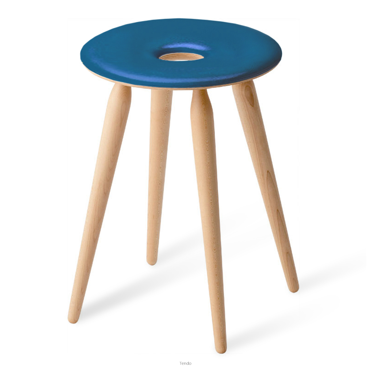 Tendo(天童木工) リングスツール (ブルーV0155) [品番:S-3165MP-NT_V0155]【全国送料無料】【同梱不可】【店頭受取対応商品】