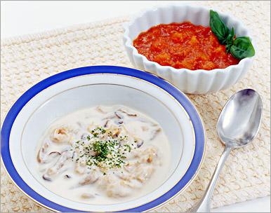 ニチレイカロリーナビ Scallop and chicken cream sauce set fs3gm