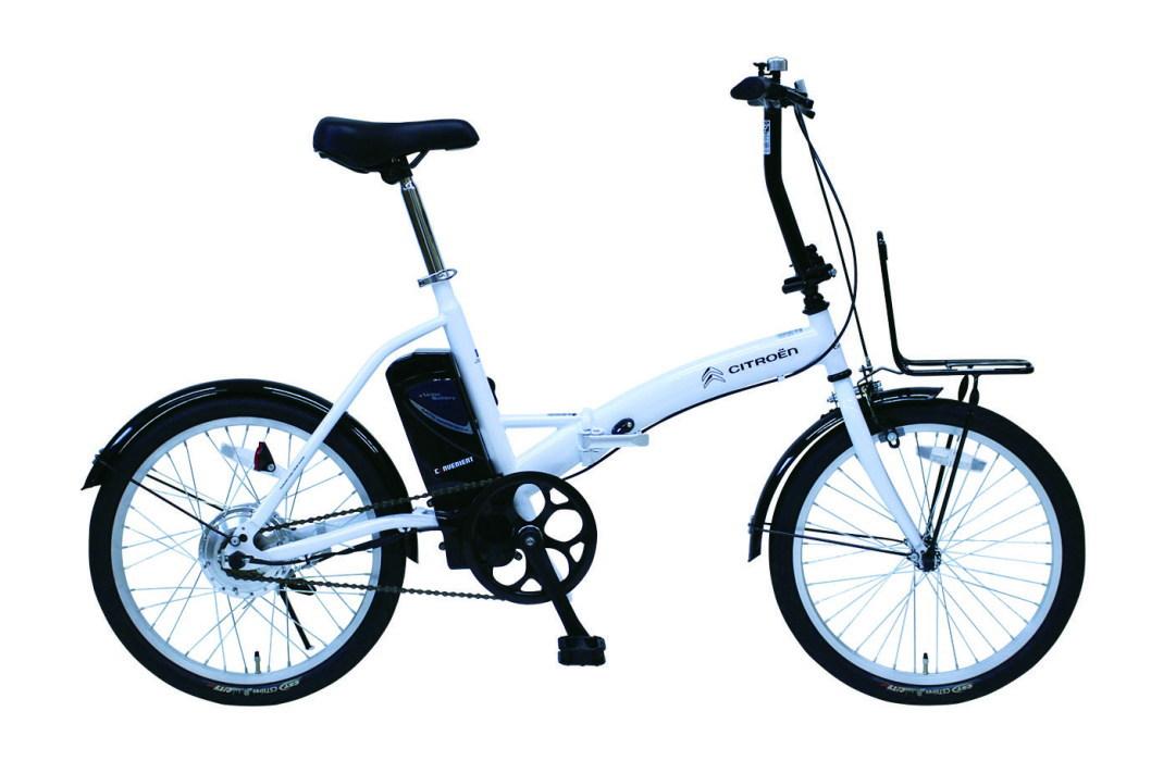CITROEN シトロエン 20インチ電動アシスト折畳自転車(ホワイト) MG-CTN20EB[ミムゴ MIMUGO][激安自転車 通販]