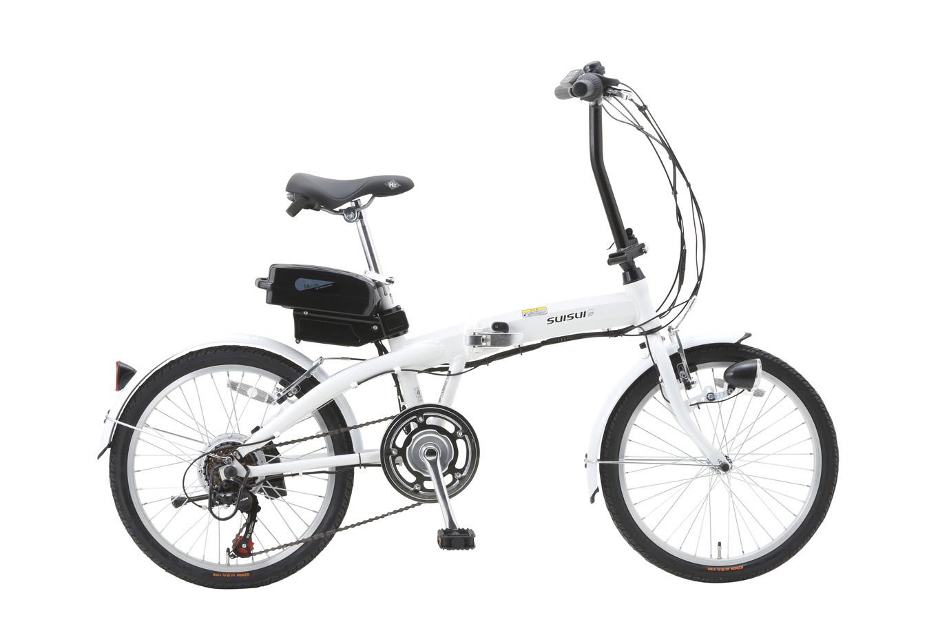 SUISUI 20インチ電動アシスト折畳自転車 6段変速 BM-A30WH[ミムゴ MIMUGO][激安自転車 通販][プレゼント]【バレンタイン】