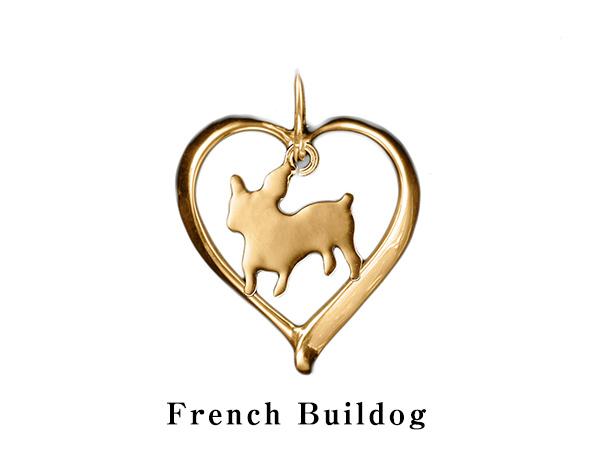 (フレンチブルドッグ)材質ゴールドドッグモチーフのネックレス(ドッグネックレス,愛犬ネックレス,アクセサリー,ジュエリー)