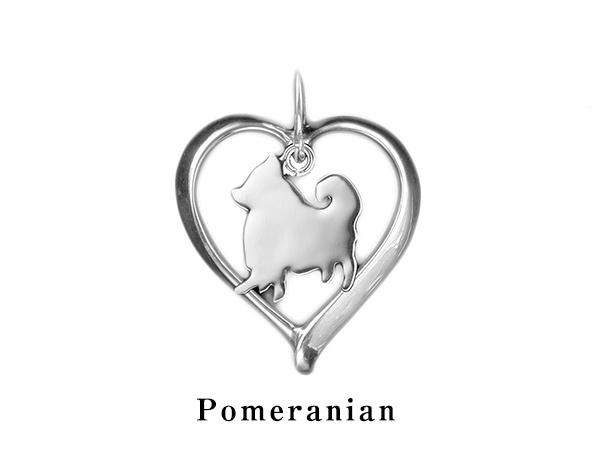 (ポメラニアン)材質シルバードッグモチーフのネックレス(ドッグネックレス,愛犬ネックレス,アクセサリー,ジュエリー)