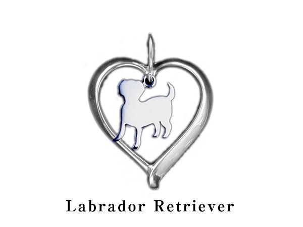 (ラブラドールレトリバー)材質シルバードッグモチーフのネックレス(ドッグネックレス,愛犬ネックレス,アクセサリー,ジュエリー)