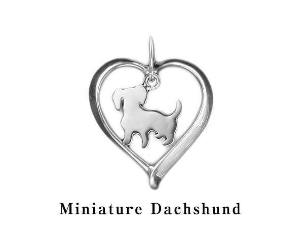 (ミニチュアダックスフンド)材質シルバードッグモチーフのネックレス(ドッグネックレス,愛犬ネックレス,アクセサリー,ジュエリー)