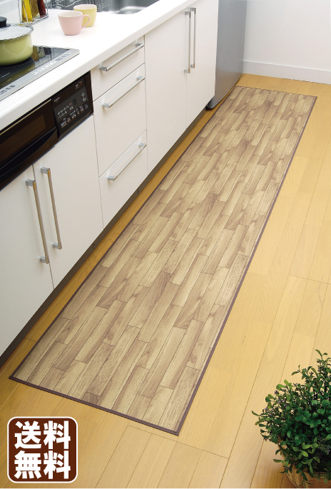 Wood kitchen flooring mats (60 * 200 cm) grey-brown wood grain pattern flooring harmonics 10P02jun13