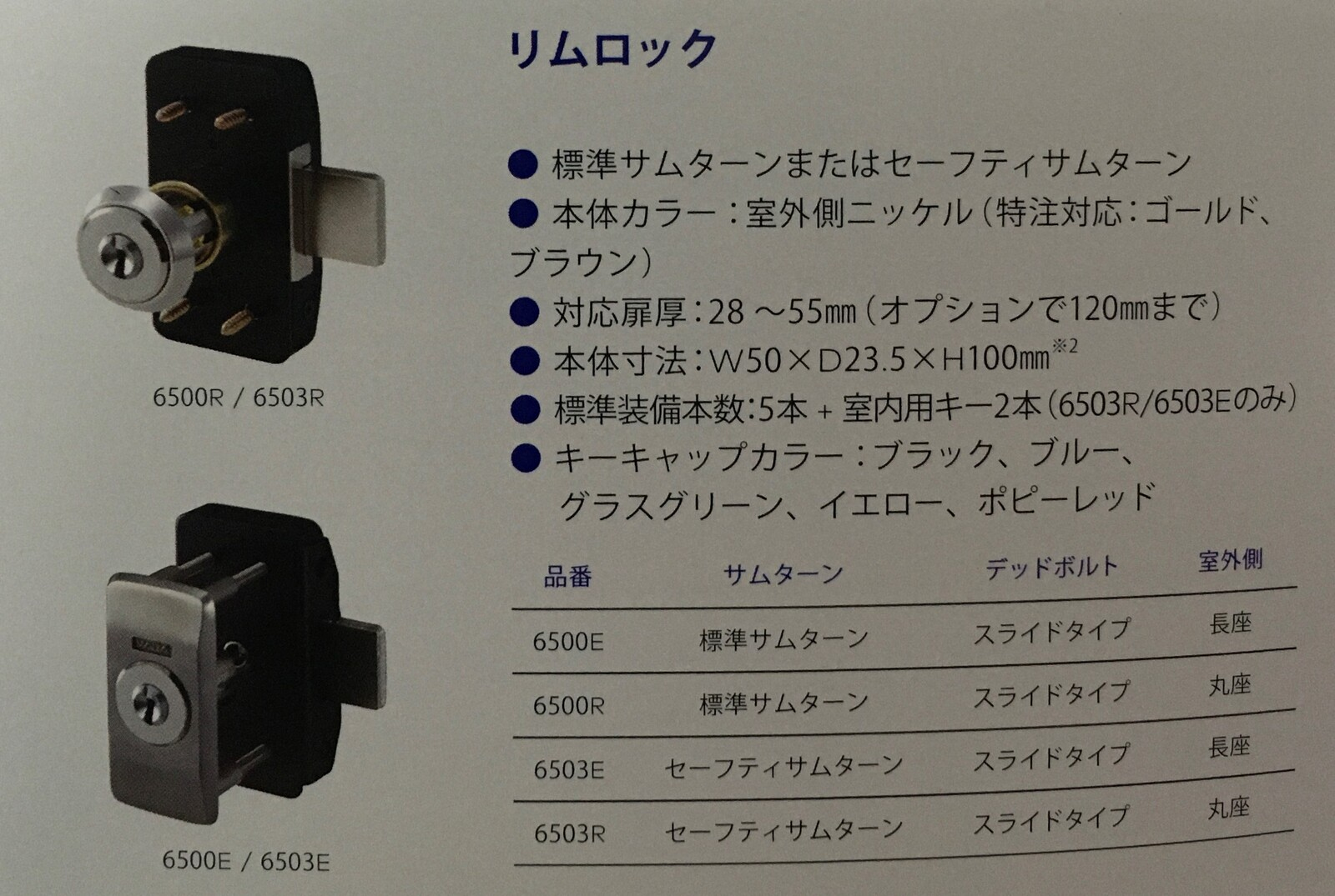 Kaba star リムロック 6500E 補助錠