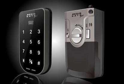 暗証番号と非接触IC認証システム搭載 WEB限定 安価に導入できる後付けタイプの電子錠です 激安 激安特価 送料無料 AEGIS イージスゲート GATE プラス